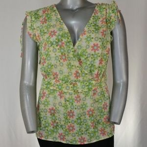 Cato Pastel Cinched Ruched Sleeveless Blouse 26W